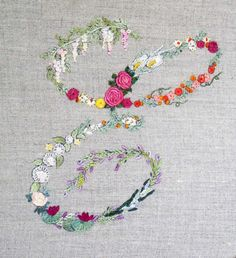 Mille fiori alphabet - E