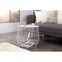 Konferenční stolek SENSE 50cm bílý Decor, Side Table, Table, Furniture, Home Decor, Coffee Table