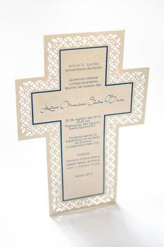 Invitacion Primera Comunión - Diseño de Cruz