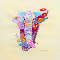 Kimika Hara is an embroider who is born and lives in Kyoto, Japan. Her series of embroidered animals are made with. Learn Embroidery, Embroidery Applique, Beaded Embroidery, Cross Stitch Embroidery, Embroidery Patterns, Contemporary Embroidery, Modern Embroidery, Art Du Fil, Art Textile