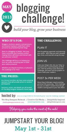 May Blogging Challenge   sarahsmile.me