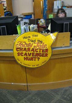 Scavenger hunt in the Library Program for Kids - Stealth program very well done