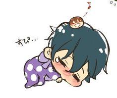 Squishy bean Natsuya is trying to be a good babaysitter ...  From tanakanatan0222 ...  Free! - Iwatobi Swim Club, squishy bean, free!, iwatobi, shiina, ikuya, ikuya kirishima, kirishima, kirishima natsuya, natsuya, kirishima