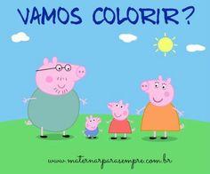 Maternar para sempre: Desenhos para colorir Peppa Pig