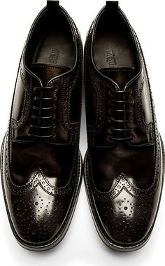 The Best Men s Shoes And Footwear   Alexander McQueen - Black Leather  Longwing Brogues 8cde8241a
