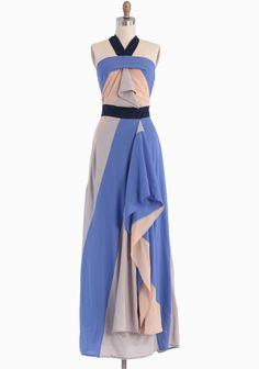 Dramatic - Mystical Musings Colorblocked Maxi Dress   Modern Vintage Dresses