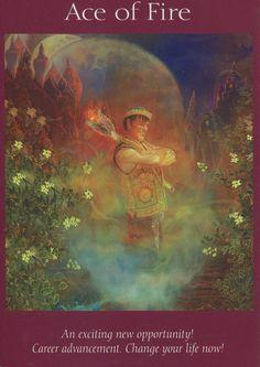Angel Tarot Card - Ace of Fire