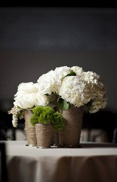 centerpieces, cream, dianthus, green, hydrangea, ranun, rustic, brown, shabby chic, vases, sparkly, glamorous , New York