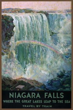 TW77 Vintage 1925 Niagara Falls Great Lakes Travel Poster re Print A1 A2 A3 | eBay