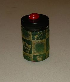 CHRISTMAS QUILTED BOTTLE Grab Bag Pill Holder Candy by ISewYouReap, $3.50