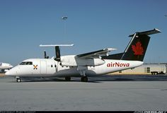 Nova Scotia based Air Nova was a rare sight on Canada's west coast when this Dash 8 was sub-leased to Time Air. Seen here in the common Air Canada Regional color scheme just before the various airlines were re-branded to Air Canada Jazz. Click here for full size photo! Air Nova De Havilland Canada DHC-8-102 Dash 8 Vancouver - International (YVR / CYVR) Canada - British Columbia, August 2001