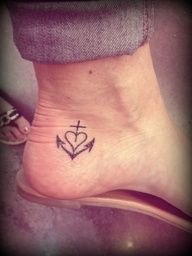Little Tattoo Idea Faith Hope Love Tattoo Ankle