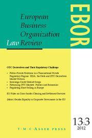European Business Organization Law Review (EBOR) - http://journals.cambridge.org/EBR