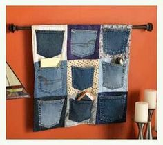 Blue Jean pocket bulletin board