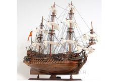 "1690 San Felipe Wooden Tall Ship Model 37"""