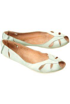 MACARENA Peeptoe Leather Shoes