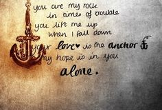Your love is my anchor