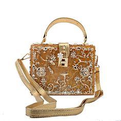 f6709234a0 Γυναικείο Τσάντες Όλες οι εποχές Μέταλλο ειδική Υλικό Βραδινή τσάντα  Τεχνητό διαμάντι Μεταλλικό για Γάμου Εκδήλωση