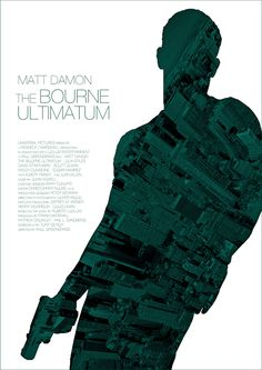 Minimalist Movie Poster: The Bourne Ultimatum. Absolutely love this series!