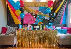 Tyler's CMYK 30th Birthday | visual vocabulary