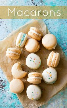 Carefully explained and photographed tutorial for delicate French macaron cookies!