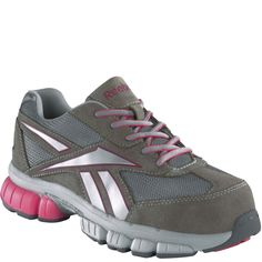 RB445 Reebok Women's Cross Trainer Safety Shoes - Grey