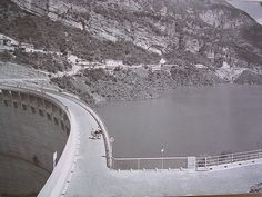 Vajont Dam before the disaster
