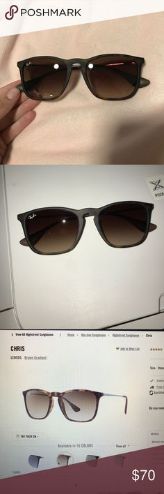 Ray ban Chris tortoise brown gradient sunglasses Perfect condition! Only wore these 2 times! Will come with black case and cleaner. Ray-Ban Accessories Sunglasses