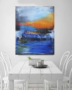 Original Abstract Painting by Stefanie Rogge Seascape Paintings, Abstract Styles, Acrylic Painting Canvas, My Room, Original Paintings, Inspiration, Illustration, Artwork, Art Market