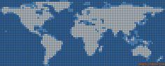 pays - country - mapemonde - point de croix - cross stitch - Blog : http://broderiemimie44.canalblog.com/