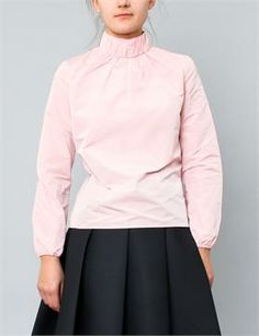 J.W. Anderson Ruched Neck Top- Pink