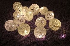 Yarn LED lightballs