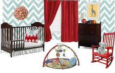 Fisher Price Inspired Nursery Design Pin-It Party - Hosted By Project Nursery/Fawn Over Baby Spearmint Baby, Bright Nursery, Nest Design, Baby Nursery Themes, Convertible Crib, Project Nursery, Host A Party, Nursery Design, Fisher Price