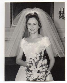 Vintage Photo Pretty Bride Wedding Portrait 1960's Nov | eBay