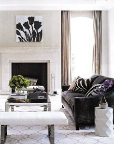 Via Architectural Digest, subtle pattern and texture, charcoal and white/ off-white.
