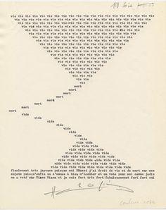 Henri Chopin   La Crevette Amoureuse   dactylopoème (1967–73)