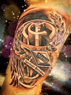 Tatto Santiago Bernabéu   Real Madrid   Hala Madrid
