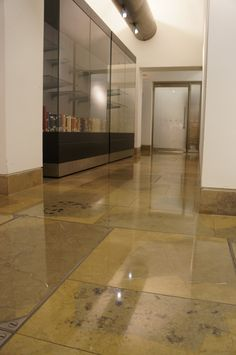 #Purbeck Cap polsihed #limestone #flooring