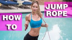 How To Jump Rope for Beginners - Fitness For All Short Workouts, Easy Workouts, At Home Workouts, Rope Exercises, Fitness Exercises, Weight Loss Video, Jump Rope Workout, Fat Burning Cardio, Skipping Rope