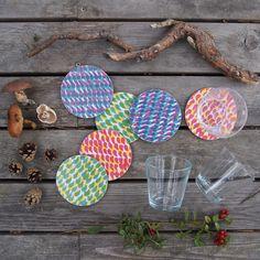 Baltic Mixed Colours Coasters by Jonna Saarinen, £18.00
