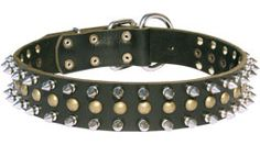 Perfect Spiked And Studded #Leather #Dog #Collar $49.90