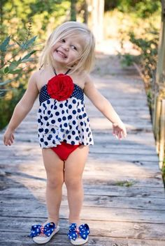 Girls Fourth of July Swimsuit at Cassies Closet. www.cassiesclosetinc.com