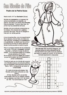 El Rincón de las Melli: Breve historia de san Nicolás de Flüe, con juego
