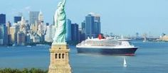 The Queen Mary II as She Sails Past the Statute of Liberty