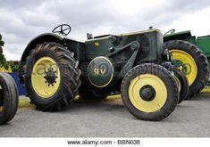 Classic tractors - Stock Photo