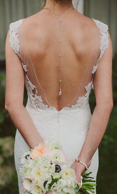 Silver Crystal Back Pendant, Wedding Bidal Body Jewelry, Bridal Back Pendant, Low Back Dress Accessories