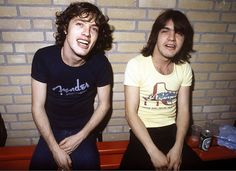 Diminutive guitar legends, malcolm and angus young!!!