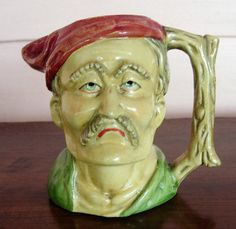 Norleans Portugal Toby Style Creamer or Pitcher  by GrammyGrover