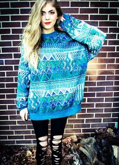 aztec christmas jumpers