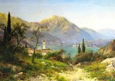 landscape of Italy Ivan Welz Old Street, House In The Woods, Landscape Paintings, Environment, Romantic, Italy, Mountains, Portrait, World